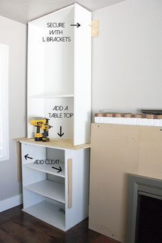 Ikea Hack Built Ins Fireplace Bookcase Billy Crane Concept