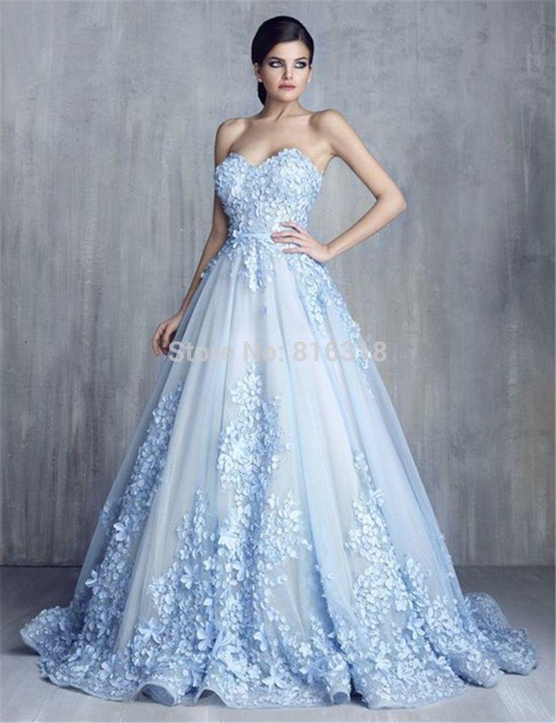 Vestidos-de-Noivas-font-b-Light-b-font-font-b-Blue-b-font-font-b ...