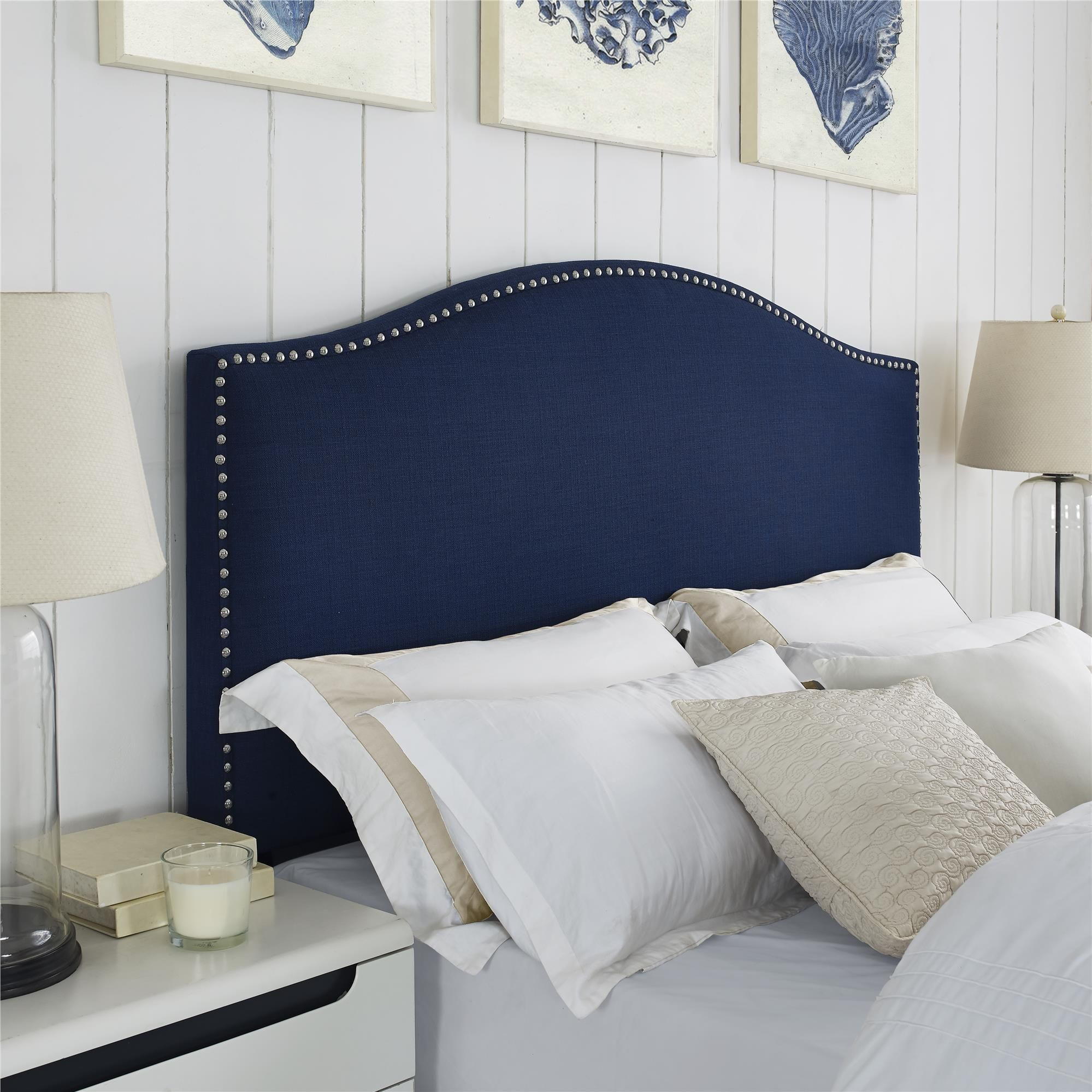 Bring A Sophisticated Style Into Your Bedroom With The Better Homes And  Gardens Grayson Linen Headboard