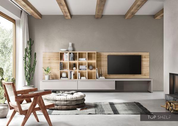 nobilia Wohnwand Lowboards Wohnzimmer Set 10 cm Touch 10