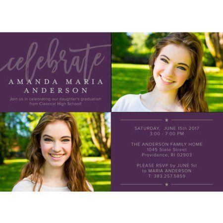 Inspirational grad graduation invitation purple products inspirational grad graduation invitation purple filmwisefo