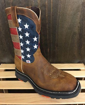 3110 Rockinleather Mens American Flag Steel Toe Work Boot Boots Work Boots Steel Toe Work Boots