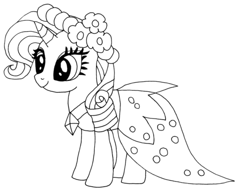 Princess Rarity Coloring Page Rarity My Little Pony Dibujos De Cumpleanos Dibujos