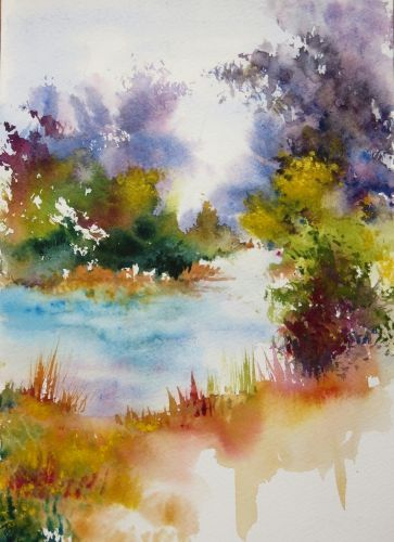 Epingle Par Zoreslava Sur Art Aquarelle Abstraite Arbres En