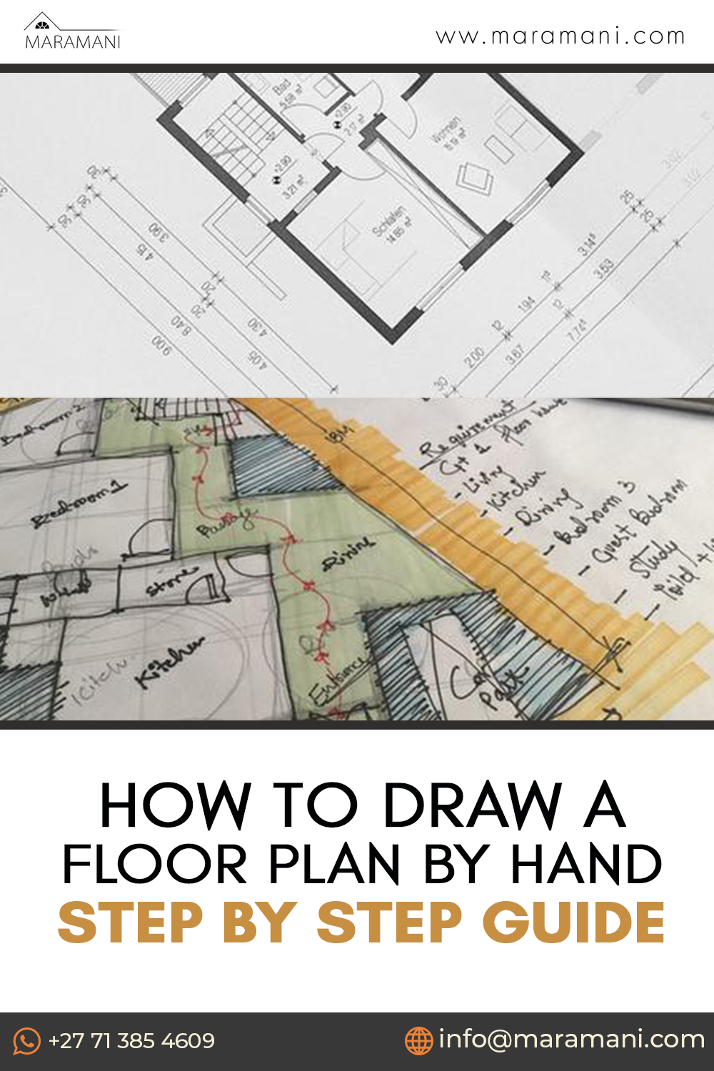 How To Draw A Floor Plan By Hand Step By Step Guide In 2020 Three Bedroom House Plan Luxury House Plans Pool House Plans