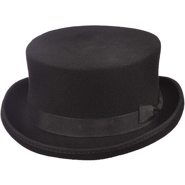 Scala Classico Men s Felt Steam Punk Top Hat Black Hats ( 62) ❤ liked on 515c2b9fc2d2