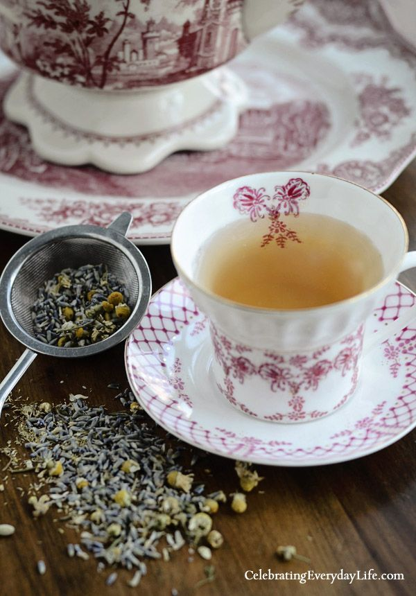 Chamomile Lavender Tea recipe http://www.pinterest.com/emmagangbar/boards/