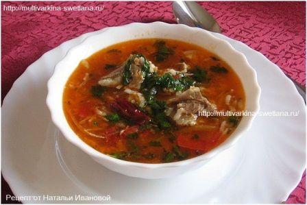 рецепт супа харчо в мультиварке витесс