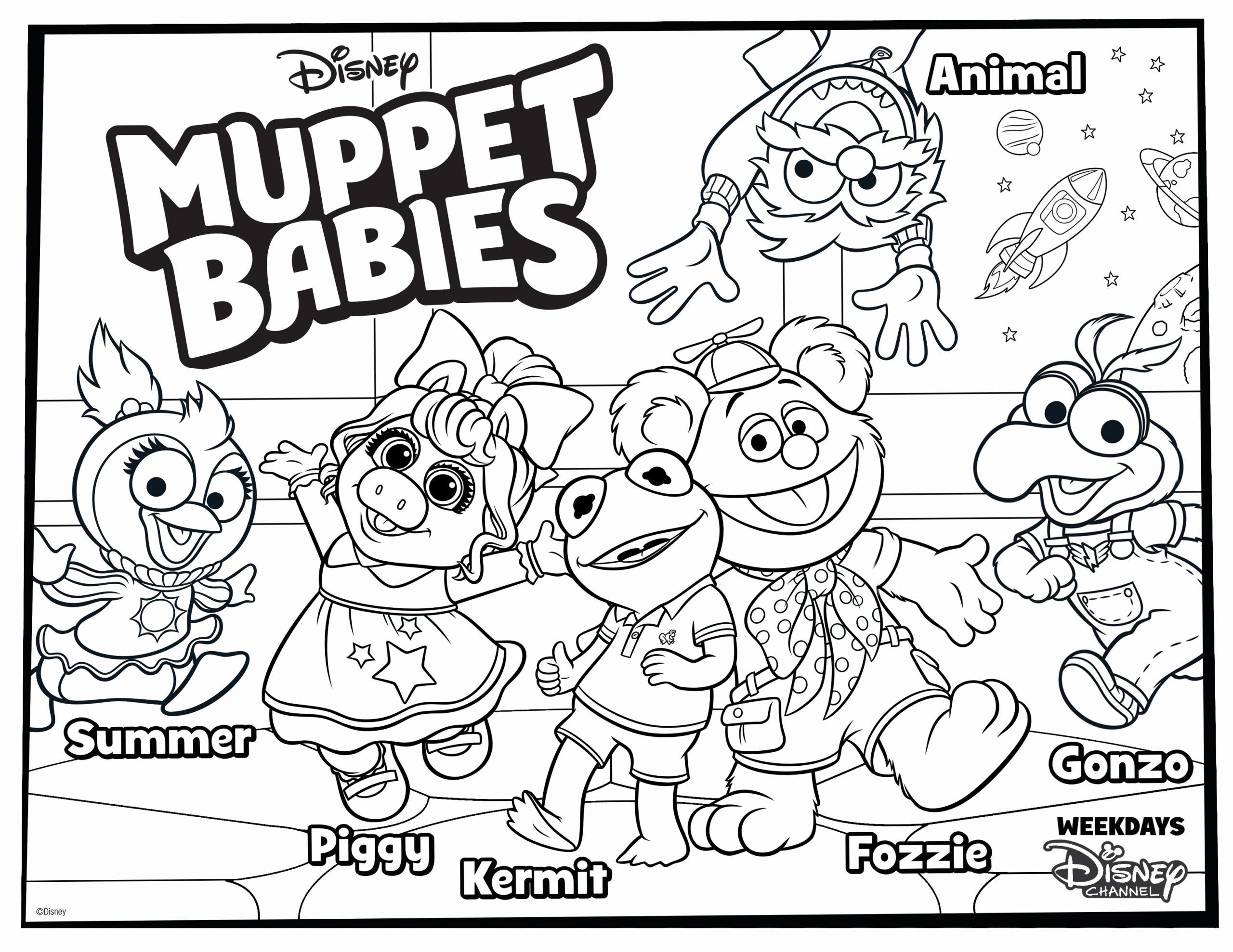 Coloring Book For Baby Inspirational Muppet Babies Coloring Page For Your Kids In 2020 Baby Coloring Pages Muppet Babies Family Coloring Pages