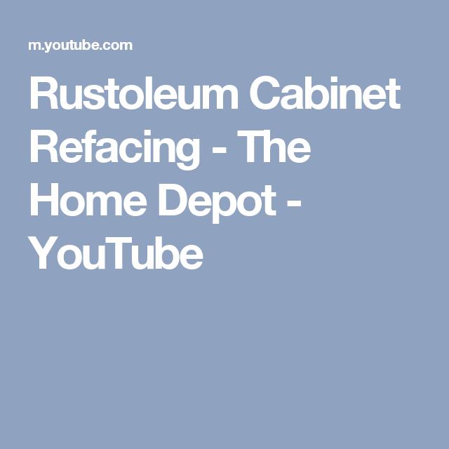 Cabinet Refacing Home Depot: Rustoleum Cabinet Refacing