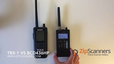 Whistler TRX-1 vs Uniden BCD436HP Compare Police Scanners