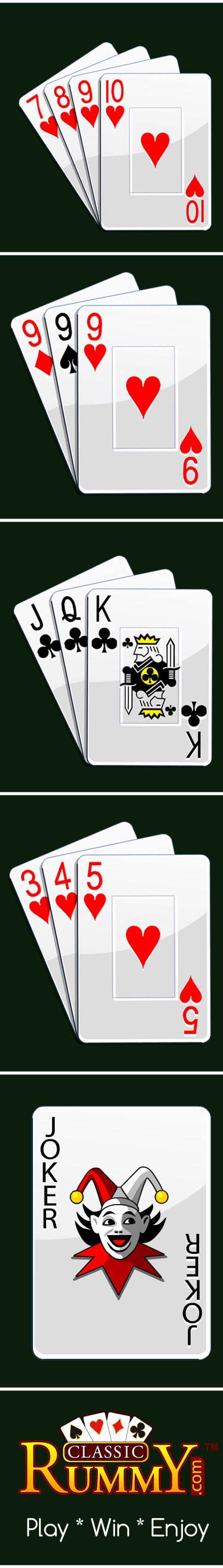 Check for rules and regulations of the rummy games online