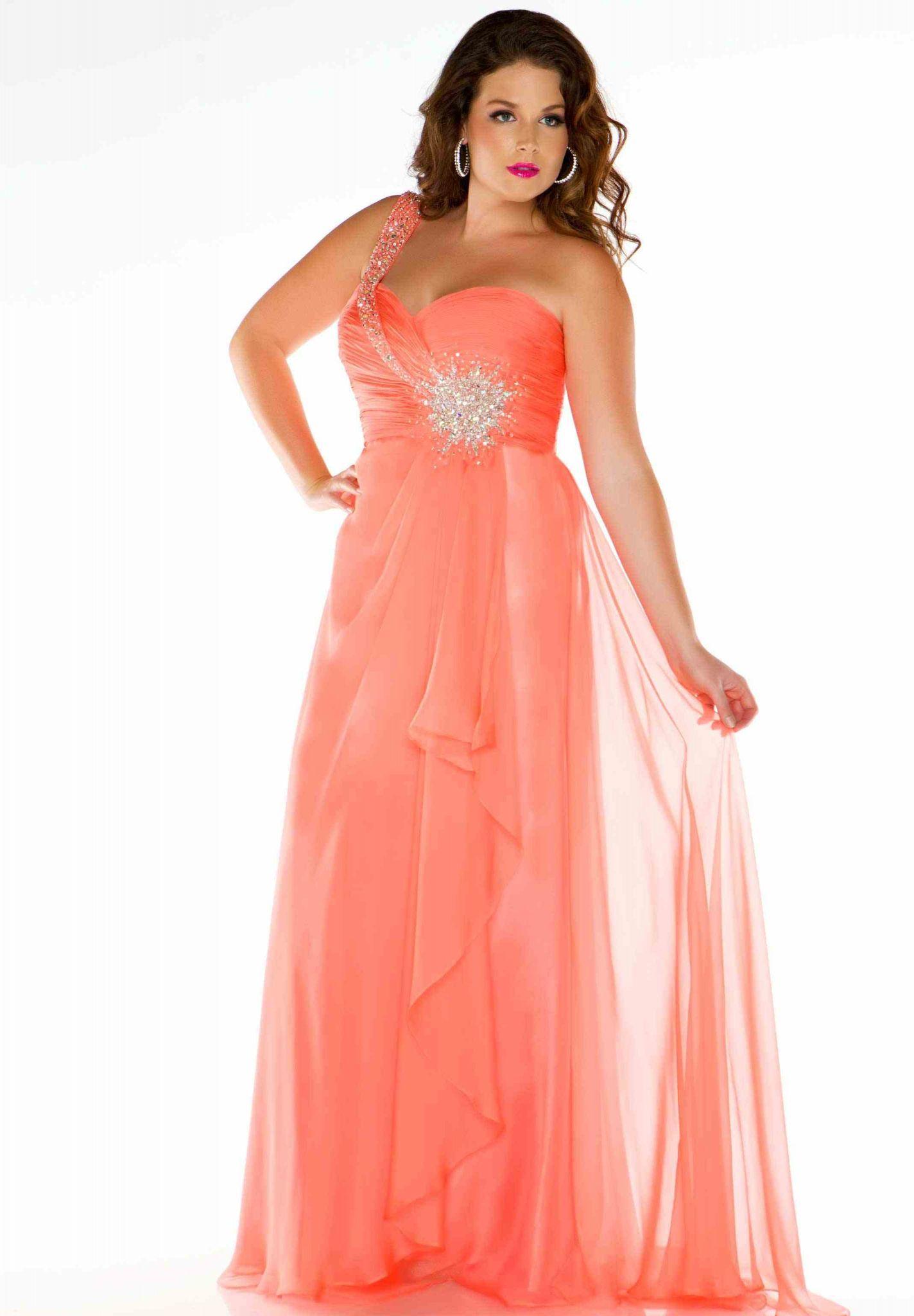 Size plus bridesmaid dresses coral 2019
