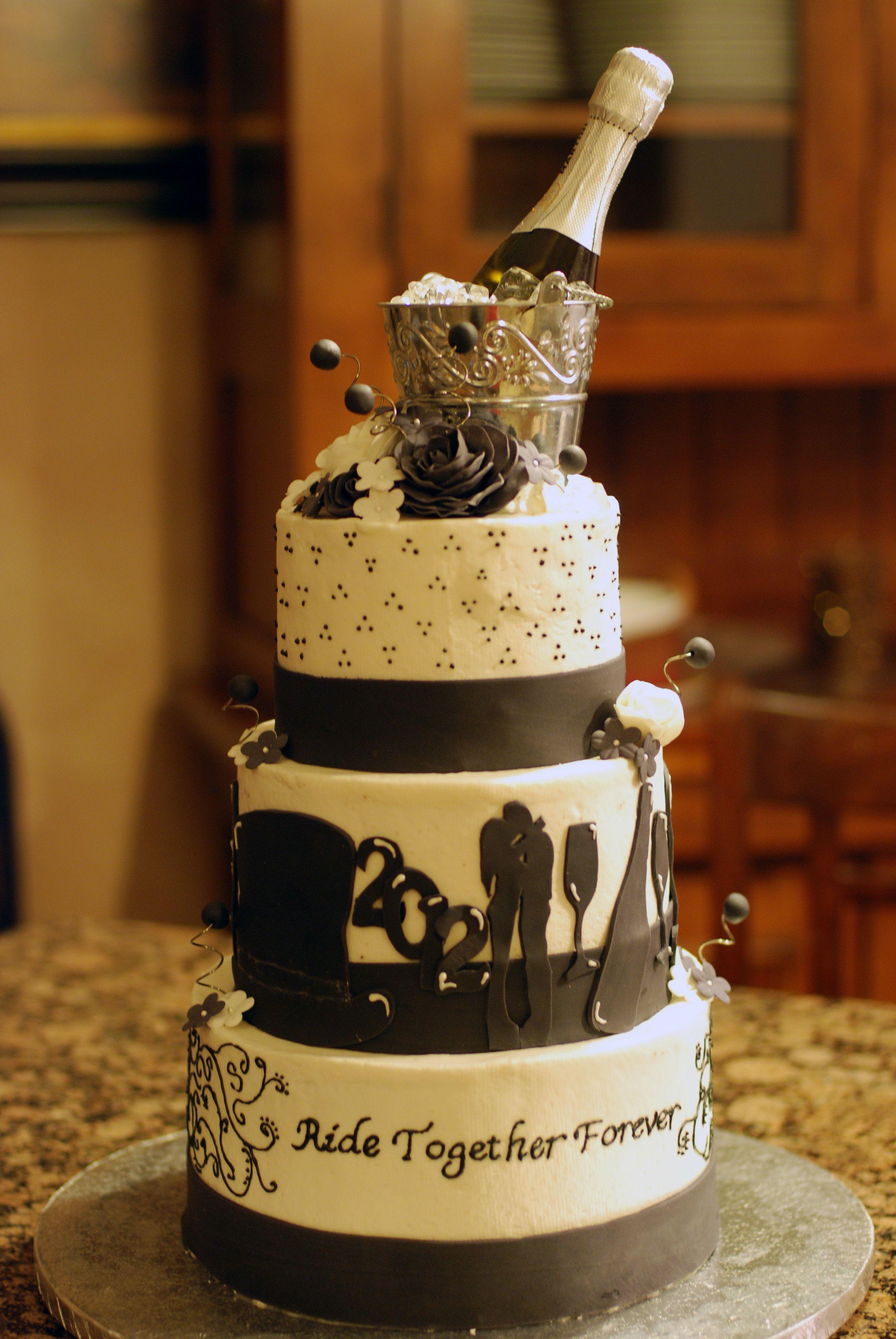 New Years Eve Wedding Cake Wedding Cake For My Aunt S Wedding On