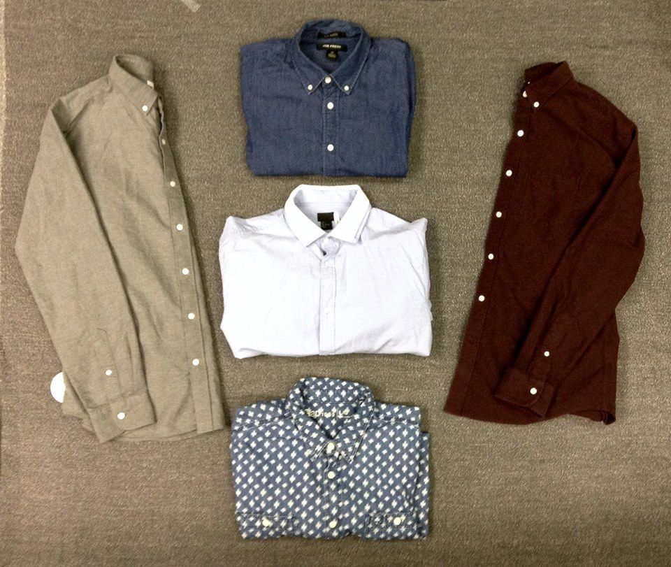 Every guy needs that perfect, go-to button down shirt! Pick out your new favourite at #PlatosCloset! #StapleItem | www.platosclosetnewmarket.com