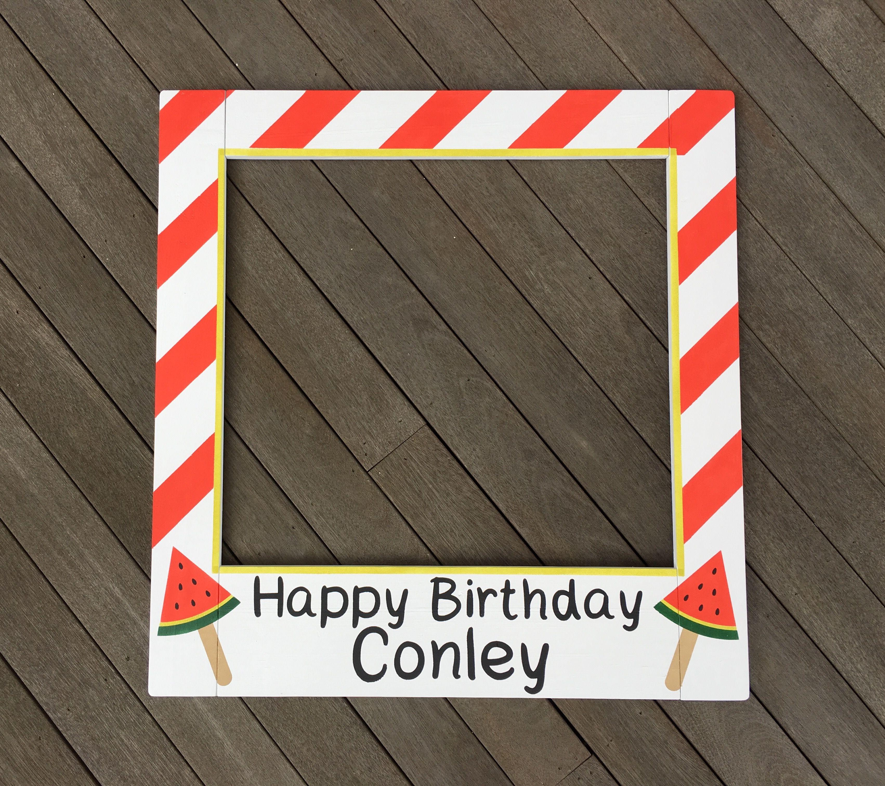 BIRTHDAY Photo Booth Frame - 1st Birthday Photo Booth Frame - Insta ...
