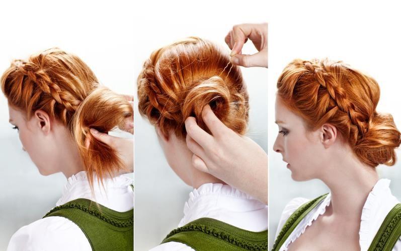 Diese Wiesn Flechtfrisur Passt Zu Jedem Dirndl Outfit Probieren Sie Es Doch Auch Einmal Aus Wiesn Frisur Frisuren Naturlocken Frisuren