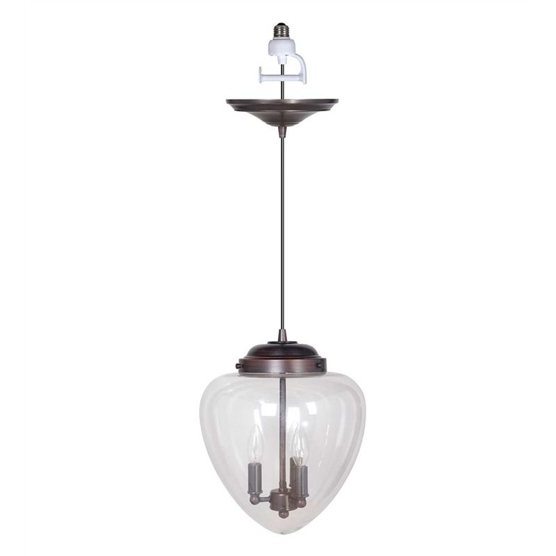 Screw in teardrop globe pendant light kitchen lighting