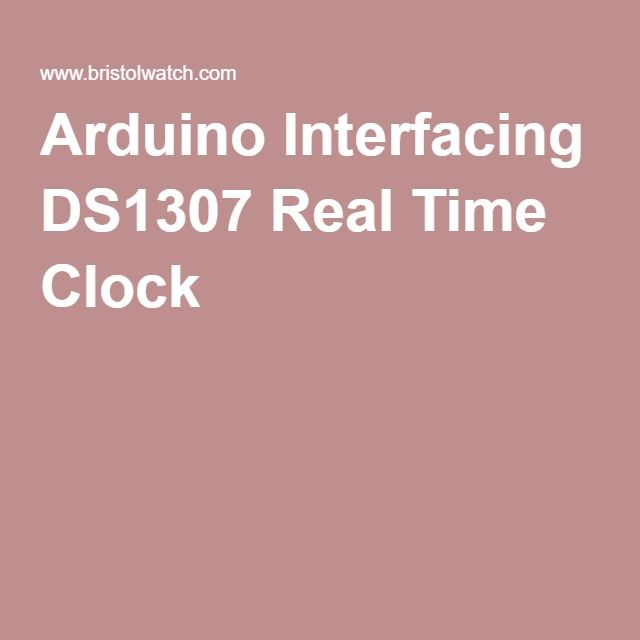 Arduino Interfacing DS1307 Real Time Clock | arduino | Real time
