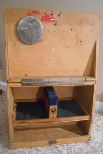 Vintage 1960s Wooden Pistol Shooting Box With Scope Place