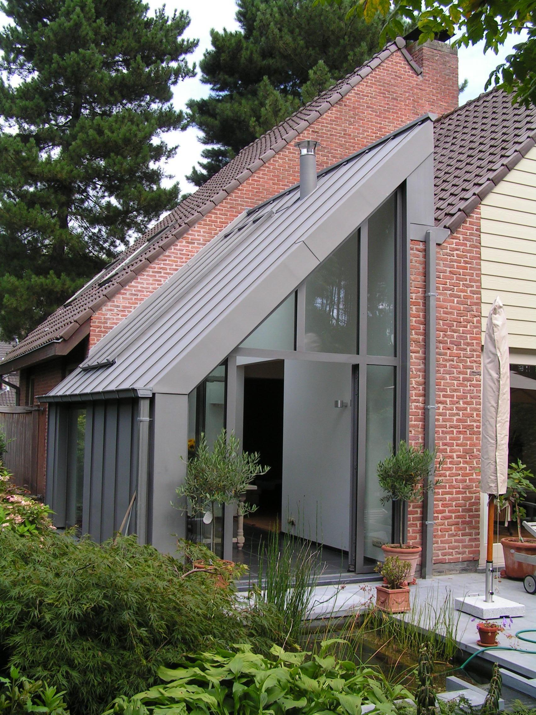 uitbreiding - gevel in zink staande naad - architect a.wildro ...