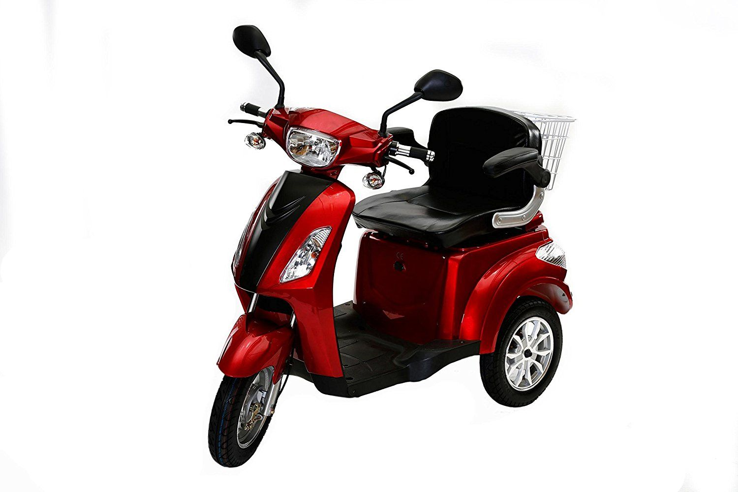 rolektro e trike 25 rot mit eu zulassung elektroroller e scooter 600 w motor 50 km reichweite 25. Black Bedroom Furniture Sets. Home Design Ideas
