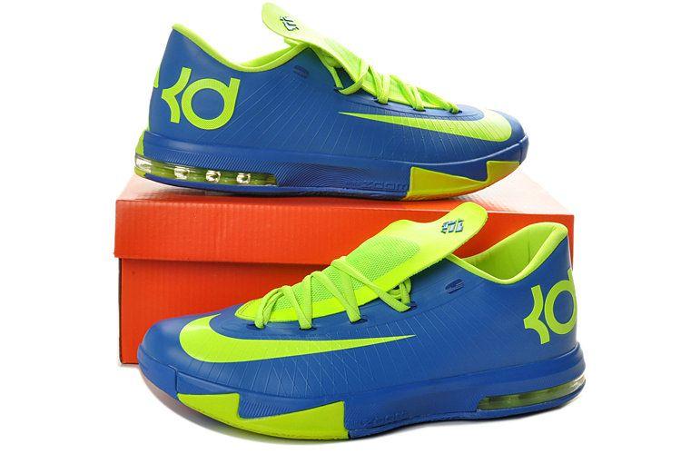 buy popular 7beee 9d311 KD VI Blackened Blue Hyper Blue Atomic Green
