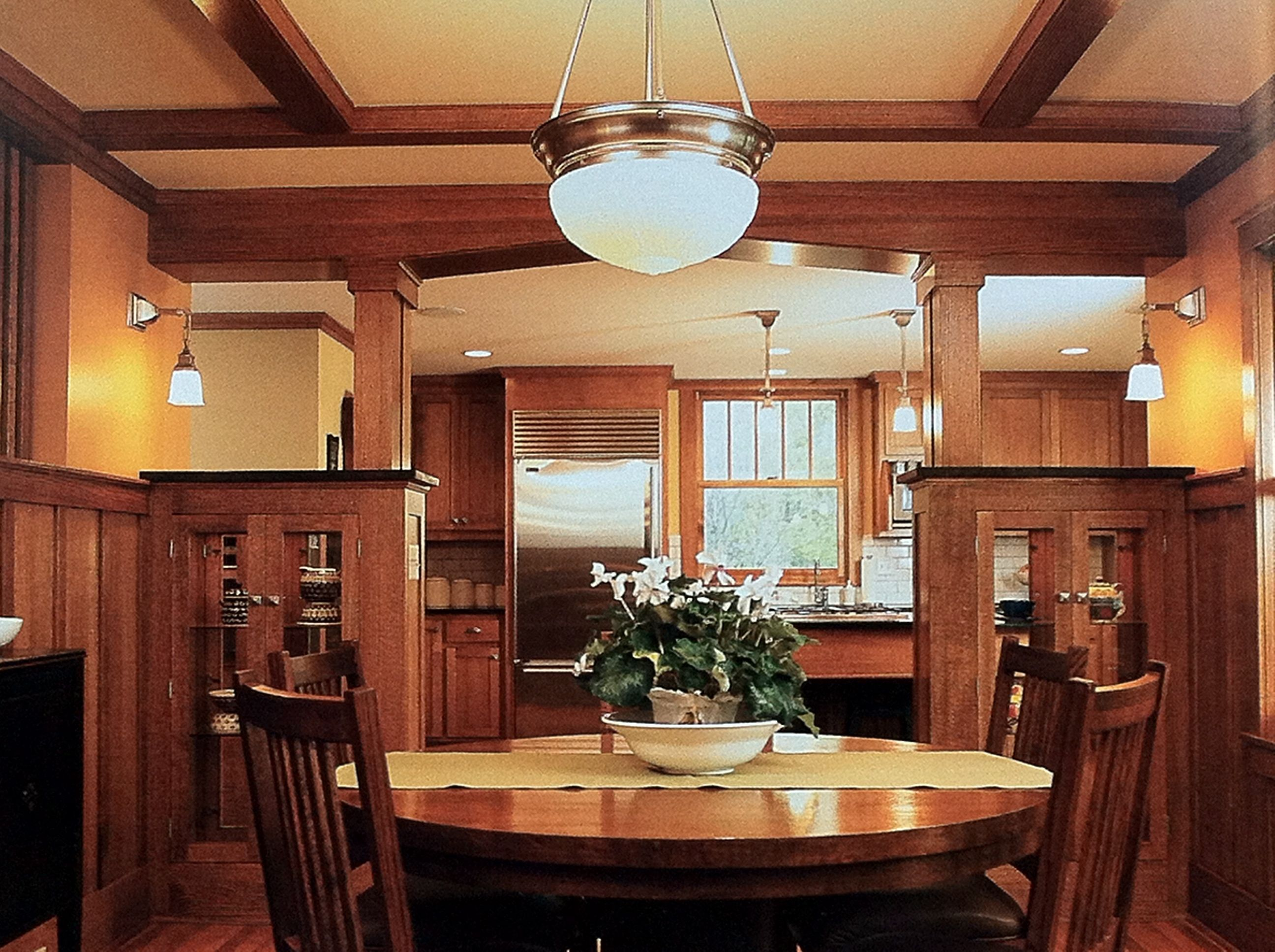 open wall between kitchen and dining room craftsman dining room craftsman home decor on kitchen interior small space id=72148