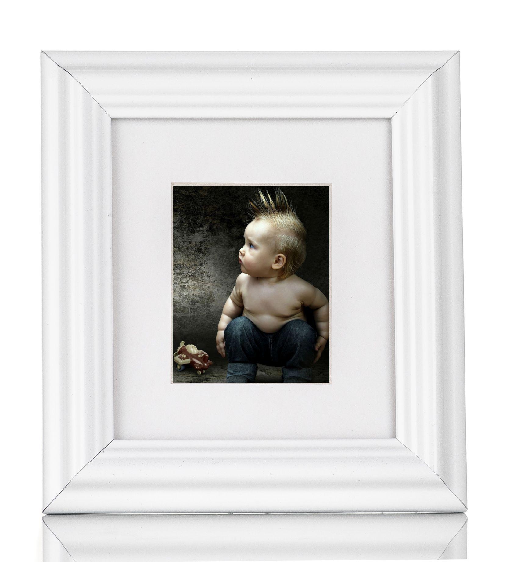 Details zu Bilderrahmen Holz hell mit Passepartout 17,5 x 22,5 cm ...