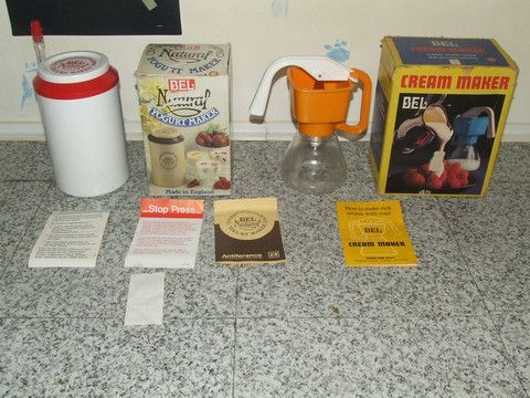 Bel Yoghurt & Cream Makers Both Boxed With Instructions