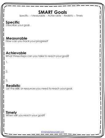 Goodbye Resolutions Hello Smart Goals Smart Goals Counseling Activities Smart Goals Worksheet