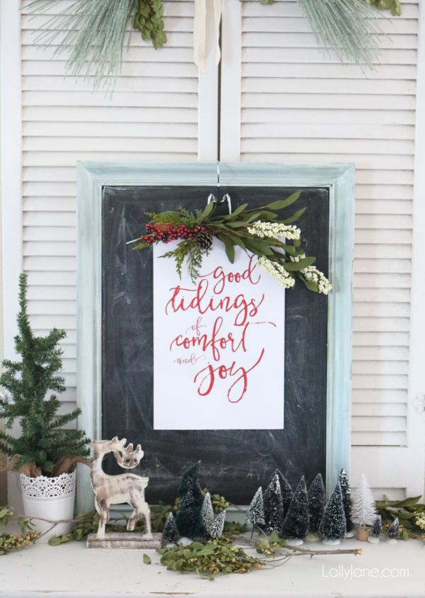 Fresh Farmhouse Christmas DIY Projects Page