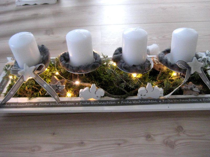 adventskranz xl adventsboard mit kerzen led. Black Bedroom Furniture Sets. Home Design Ideas