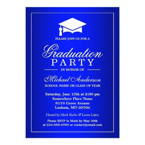 Stunning royal blue gradient graduate graduation card graduation stunning royal blue gradient graduate graduation card filmwisefo