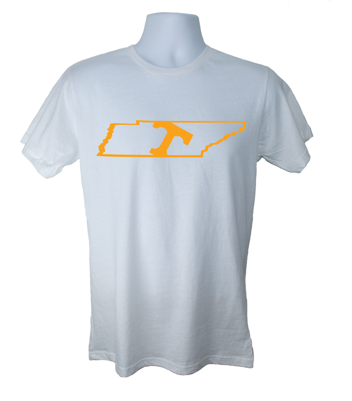 Tennessee Vols Shirt With The Tilted Power T In State