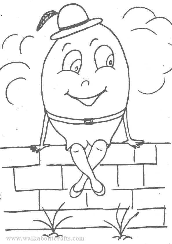 Humpty Dumpty Coloring Coloring Pages Jr Art Free Coloring