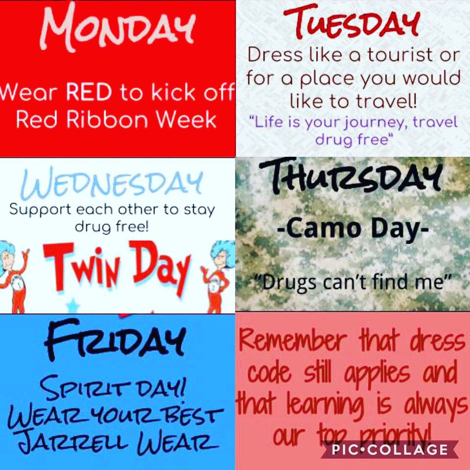 Red Ribbon Week Themed Dress Up Ideas Red Ribbon Week Red Ribbon Spirit Week [ 960 x 960 Pixel ]