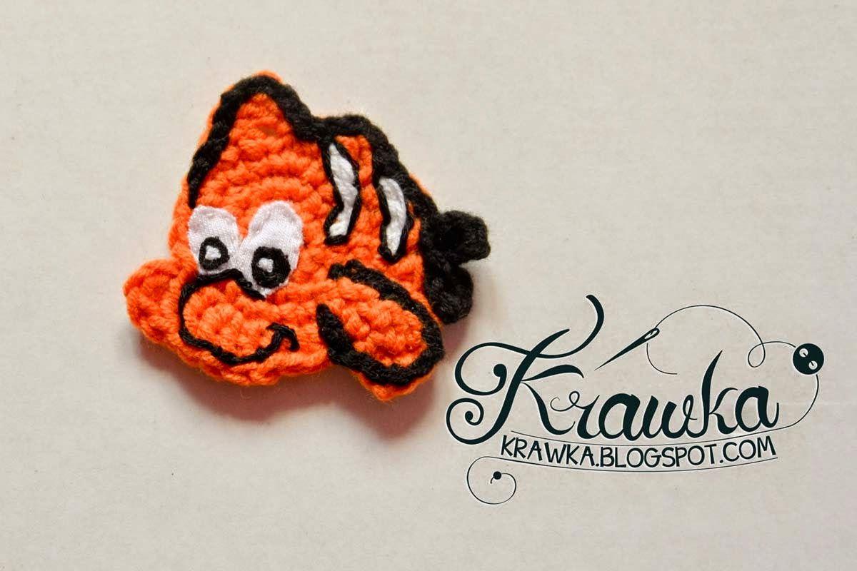 Aplikacja rybka Nemo   Crochet/Amigurumi FREE patterns & tutorials ...