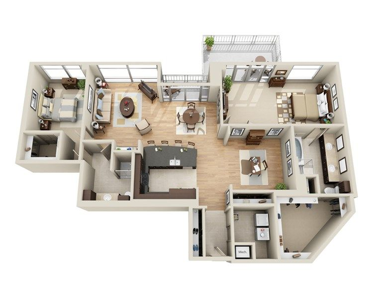 Pin By Leah Gaines On House Goals Condo Floor Plans Small House Design Plans Sims House Plans