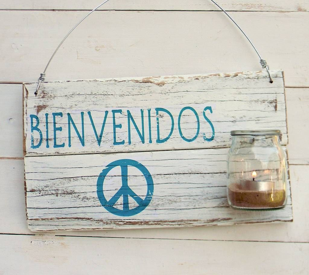 Letrero bienvenidos cuadros maderas pinterest - Cuadros vintage madera ...