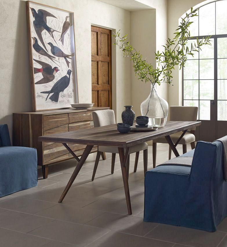 Information: Brownstone Furniture Crawford Dining Table Features: Rich In  Character, And Refined In