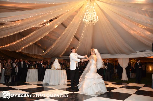 diy wedding reception lighting. Bride And Groom First Dance At Tennessee Wedding Reception With Draping Lighting Under Clear Tent Diy I