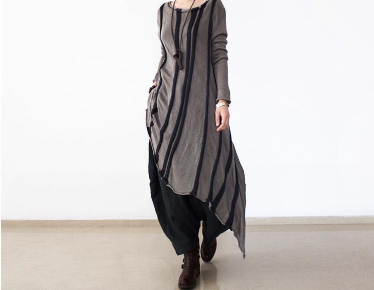 Lana gris de manga larga vestido de suéter 356  de Deboy2000 por DaWanda.com