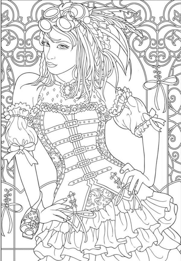 Steampunk coloring page   steampunk   Pinterest   Bilder zum ...