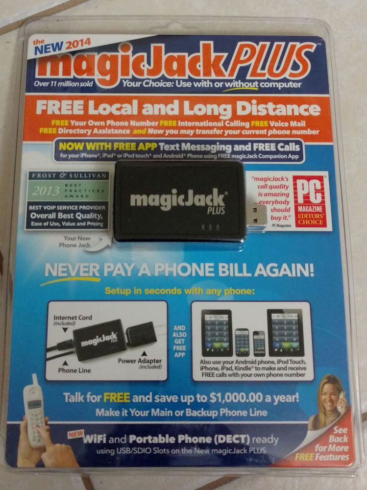 Details about MagicJack EXPRESS unlimited calls Includes 3