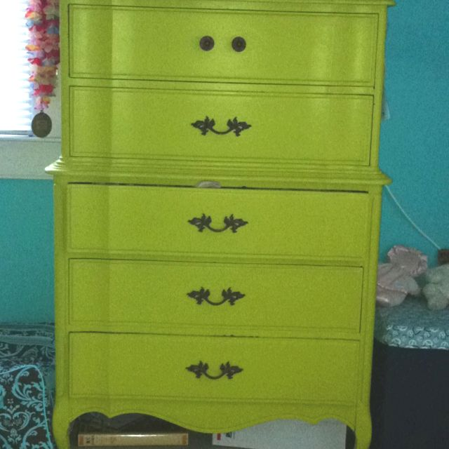 Awesome Lime Green Dresser!