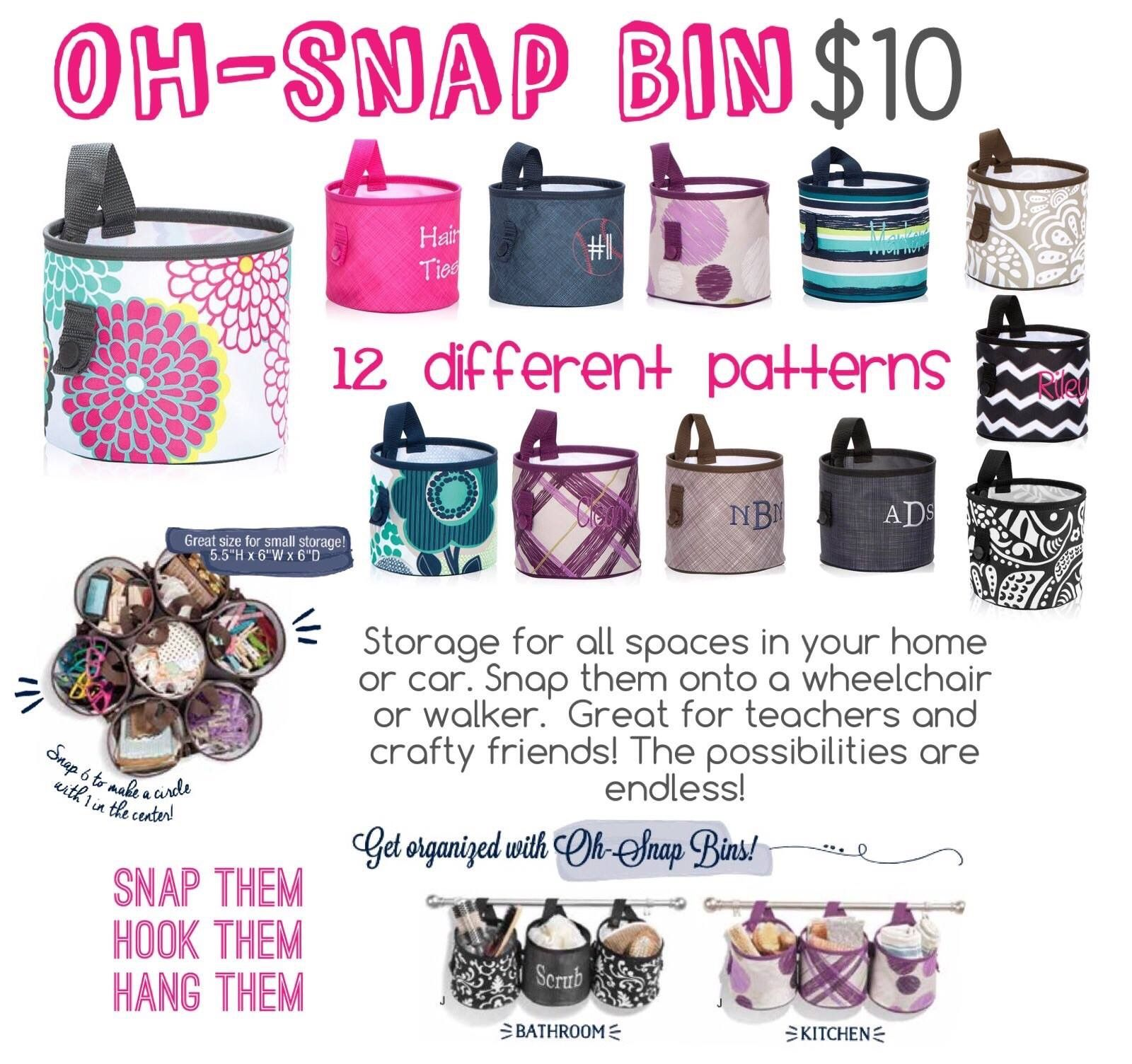 Oh snap bin ideas - Oh Snap Bins Great For Crafts Kids Storage Shower Bins And More