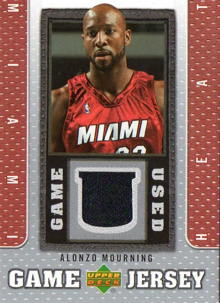 Buy 2007 08 Upper Deck Alonzo Mourning Game Used Jersey Card