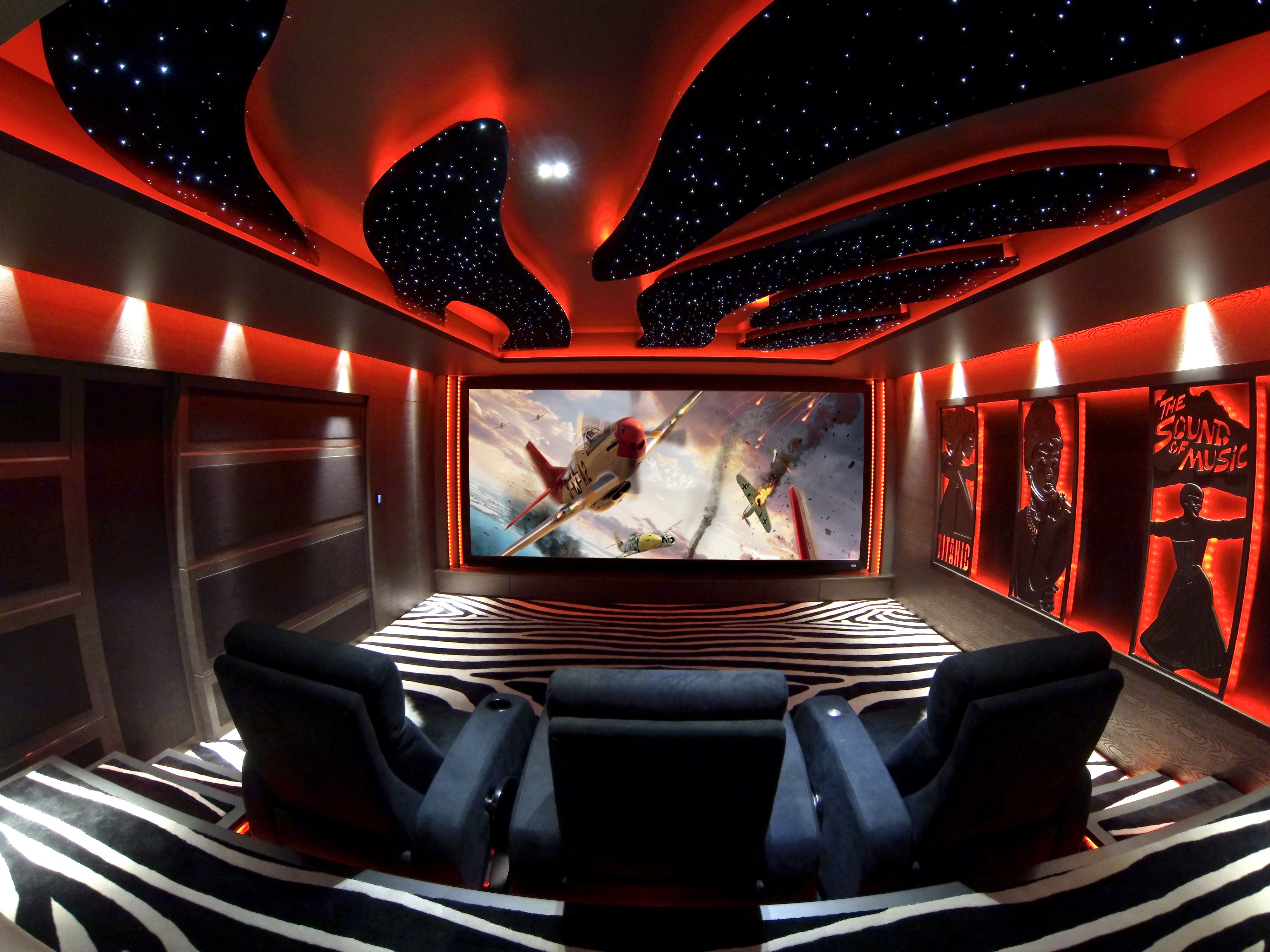 dbox hometheater with jaymar seating | home theater seating