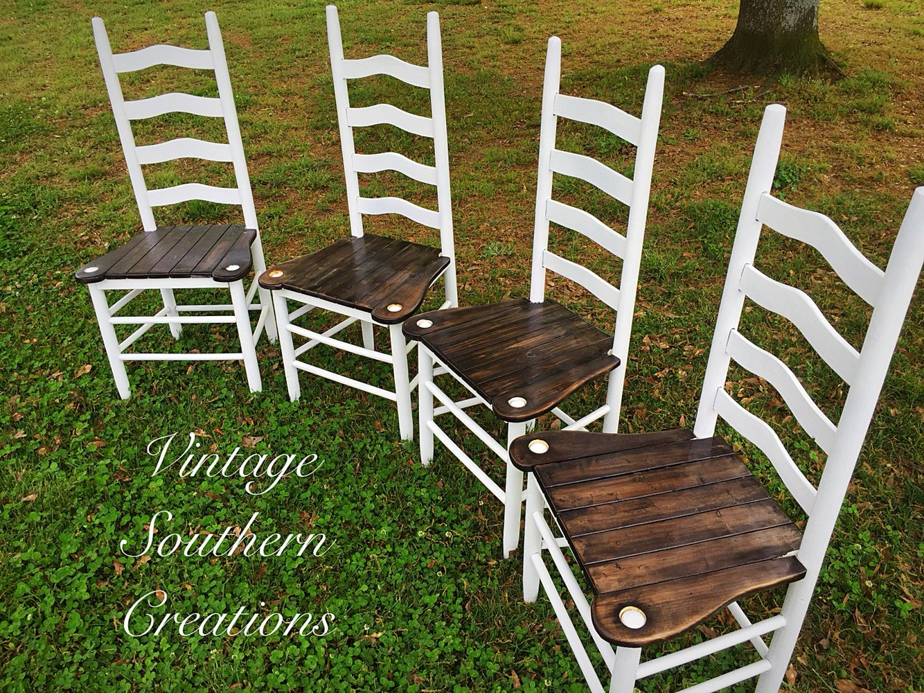 Farmhouse chairs by vintage southern creations rustic
